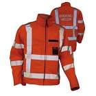 Brandweer zaagjas met zaagbescherming